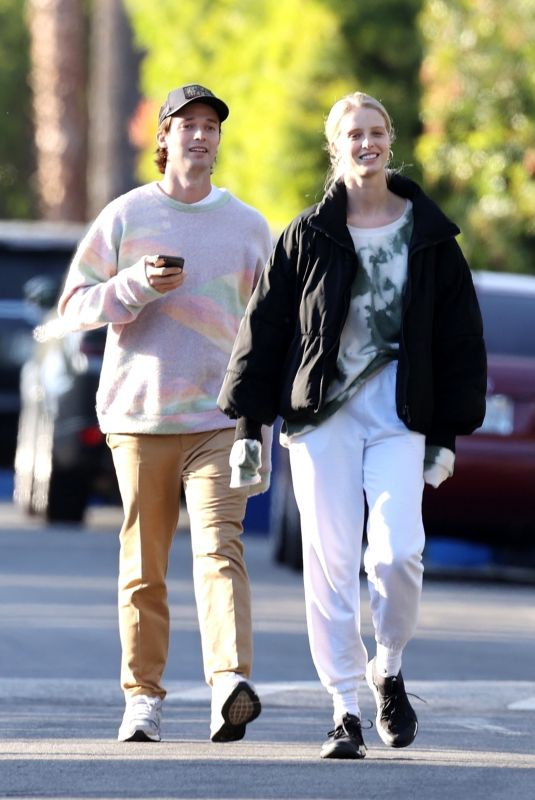 ABBY CHAMPION and Patrick Schwarzenegger Out in Brentwood 04/21/2020