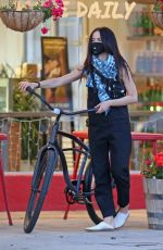 ABIGAIL SPENCER Riding a Bike Out in Studio City 04/23/2020