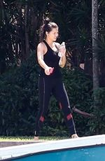 ADRIANA LIMA at Her Home in Miami 04/04/2020