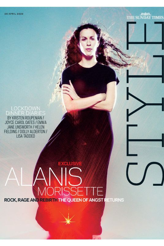 ALANIS MORISSETTE in The Sunday Times Style, April 2020