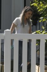 ALI FEDOTOWSKY Out Gardening in Her Front Yard 04/11/2020