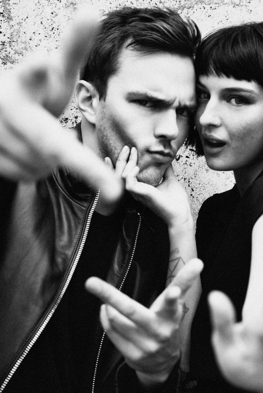 ALICE PAGANI and Nicholas Hoult for Emporio Armani Fragrance Campaign, January 2020