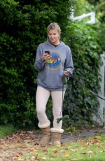 ALLISON DUNBAR Out with Her Dog in Los Angeles 04/13/2020