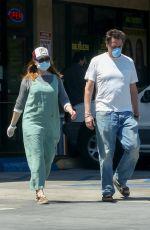 ALYSON HANNIGAN and Alexis Denisof at Boba Truck Cafe in Northridge 04/27/2020
