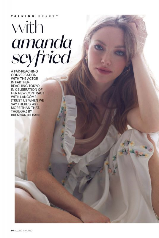 AMANDA SEYFRIED in Allure Magazine, May 2020