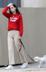 ANA DE ARMAS Out with Her Dog in Pacific Palisades 04/11/2020
