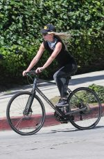 ANNABELLE WALLIS Riding a Bike Out in Los Angeles 04/16/2020