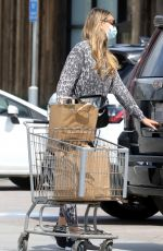 APRIL LOVE GEARY Wearing a Mask Out Shopping in Malibu 04/08/2020