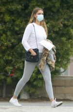 APRIL LOVE GEARY Wearing Mask Leaves Urgent Care in Malibu 04/16/2020