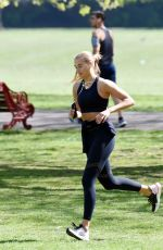 ARABELLA CHI Workout at a Park in London 04/15/2020