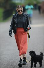 ASHLEY JAMES Out with Her Dog in London 04/01/2020