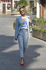 ASHLEY ROBERTS Leaves Heart Radio in London 04/09/2020