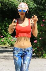 BAI LING Out at Fryman Canyon in Studio City 04/24/2020