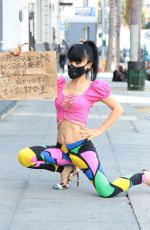 BAI LING Wearing Black Mask Out in Los Angeles 04/19/2020