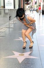 BAI LING Wearing Mask Out on the Hollywood Walk of Fame 04/27/2020