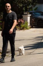 BECCA TOBIN and Zach Martin Out with Their Dogs in Los Angeles 04/11/2020