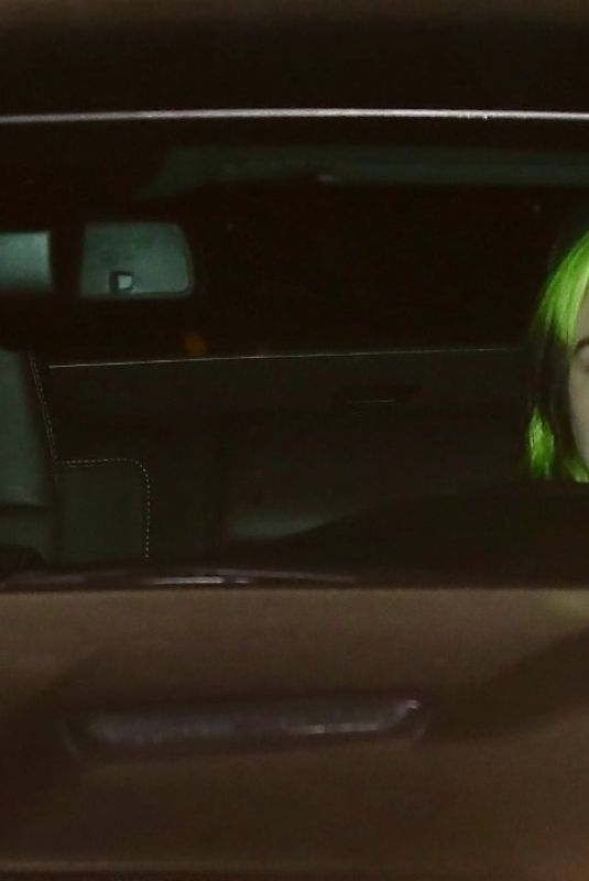 BILLIE EILISH Drive Out in her Car in Los Angeles 04/04/2020