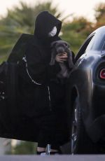 BILLIE EILISH Out with Her Dog in Los Angeles 04/22/2020