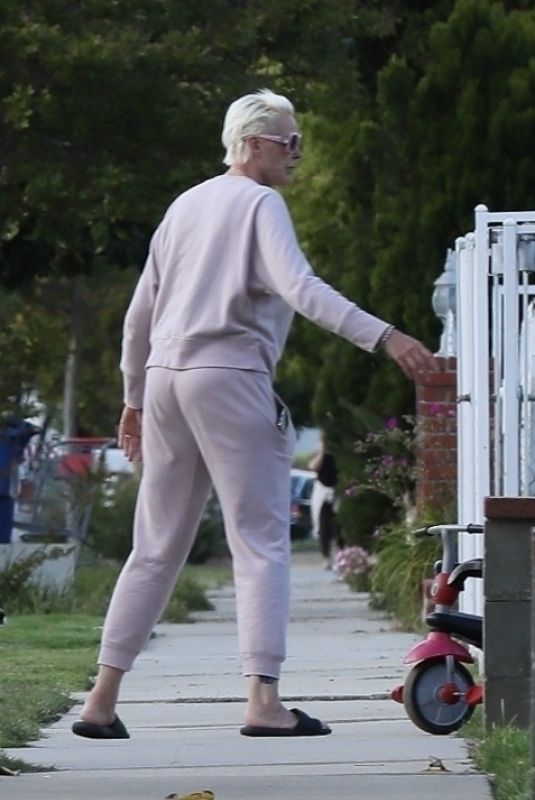 BRIGITTE NIELSEN Out and About in Beverly Hills 04/20/2020