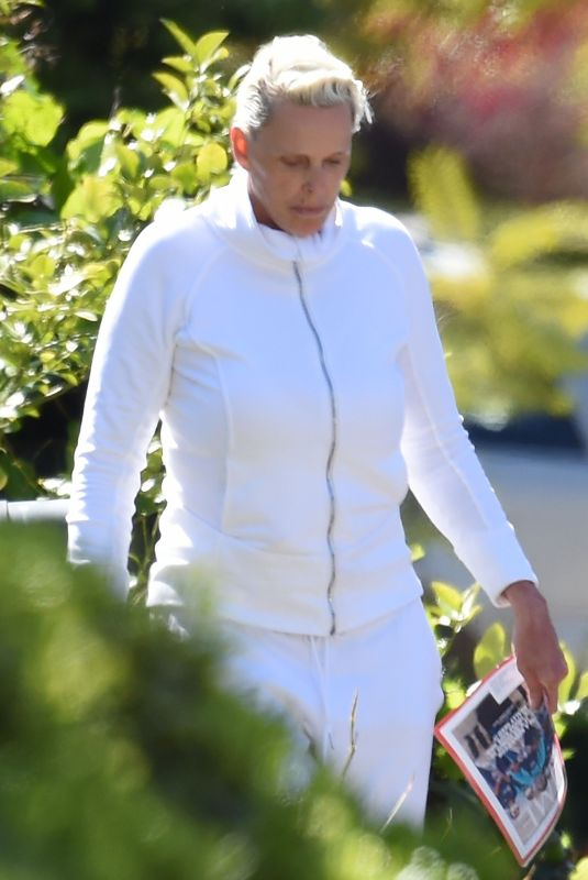 BRIGITTE NIELSEN Outside Her Home in Los Angeles 04/11/2020