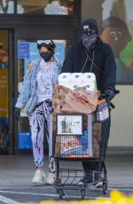 BRITTANY FURLAN Wearing Mask Out Shopping in Calabasas 04/14/2020