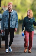 BRITTANY SNOW and Tyler Stanaland Out in Los Angeles 04/10/2020