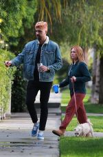 BRITTANY SNOW Out with Her Dog in Los Angeles 04/10/2020