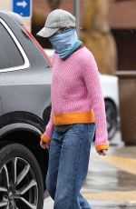 CALISTA FLOCKHART Wearing Bandana Mask Out in Los Angeles 04/09/2020