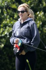 CAMILLE GRAMMER Out with Her Dog in Beverly Hills 04/20/2020