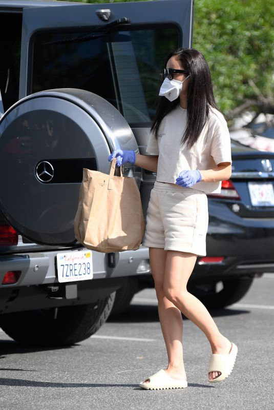 CARA SANTNA Shopping to Donate Food to Project Angel Food in Los Angeles 04/25/2020