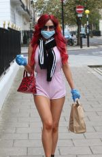 CARLA HOWE in Shorts Wearing Mask and Gloves Out in London 04/16/2020