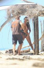 CHARLIE RIINA in Bikini for 138 Water at a Beach in Los Angeles 04/14/2020