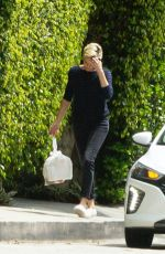 CHARLIZE THERON Pick Up Her Delivery Order in Los Angeles 04/17/2020