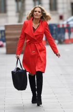 CHARLOTTE HAWKINS Aeeives at Global House in London 04/02/2020
