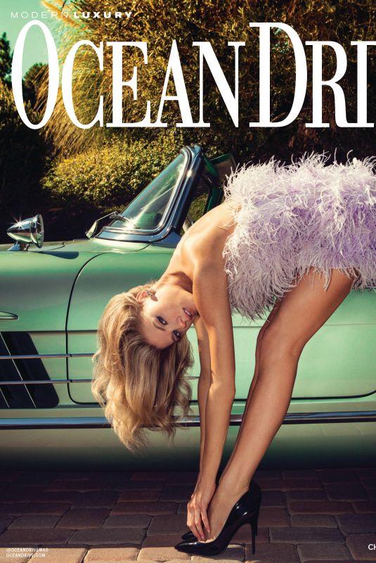 CHARLOTTE MCKINNEY in Ocean Drive Magazine, April 2020