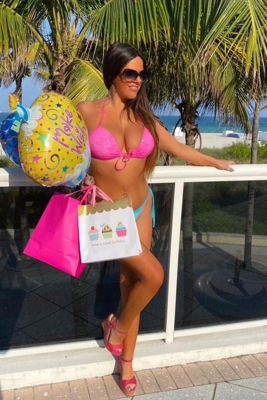 CLAUDIA ROMANI in Bikini Celebrates Her Birthday at a Pool in Miami 04/14/2020