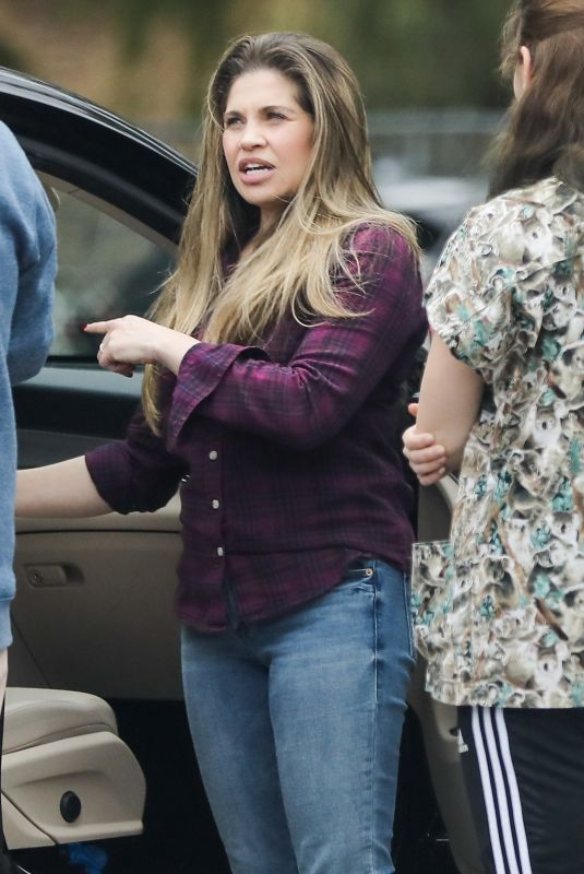 DANIELLE FISHEL Taking Her Dog to the Vet in Los Angeles 04/07/2020