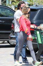 DENISE RICHARDS and Aaron Phyphers Wearing Masks Out Shopping in Malibu 04/28/2020