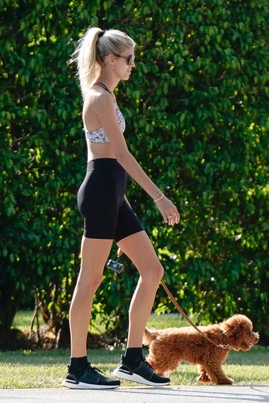 DEVON WINDSOR Out Jogging with Her Dog in Miami 04/04/2020