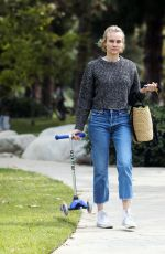DIANE KRUGER Out at a Park in Los Angeles 04/08/2020
