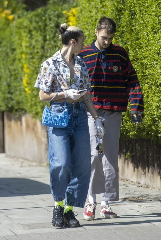 DUA LIPA and Anwar Hadid Out and About in London 04/11/2020