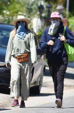 ELIZABETH OLSEN and Robbie Arnett Out in Hollywood Hills 04/11/2020