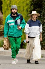 ELIZABETH OLSEN and Robbie Arnett Out in Los Angeles 04/18/2020