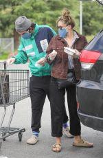ELIZABETH OLSEN Leaves Erewhon Market in Calabasas 04/20/2020