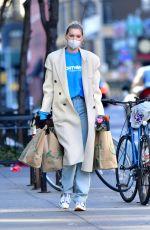 ELSA HOSK Wearing Mask Out Shopping in New York 04/17/2020