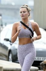 EMILY BLACKWELL Out Jogging in London 04/08/2020