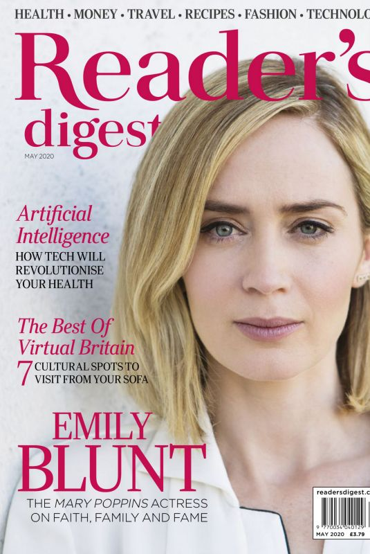 EMILY BLUNT in Reader's Digest Magazine, UK May 2020
