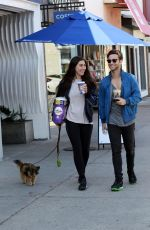 EMMA SLATER and Sasha Farber Out with Their Dog in Los Angeles 04/02/2020