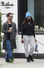 EMMA SLATER Wears Bandna Mask and Sasha Farber Out for Coffee in Los Angeles 04/05/2020