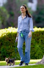 EMMY ROSSUM Out with Her Dogs in Los Angeles 04/01/2020